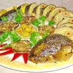 Фаршированная рыба в духовке целиком, простой рецепт приготовления с фото