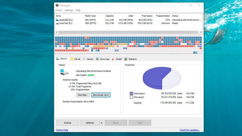 дефрагментация диска на windows